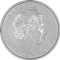 British coin with Queen Elizabeth II's face