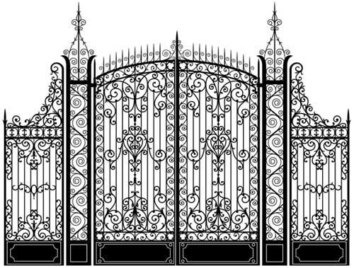 Fancy high gate