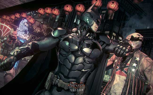 Batman fights off a villain in Arkham Knight