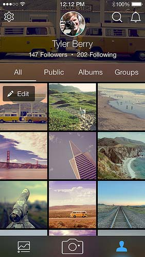 Flickr smartphone app