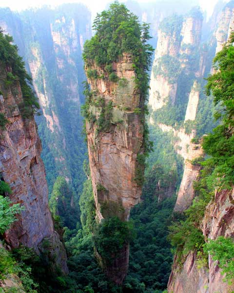 Tianzi Mountains of China