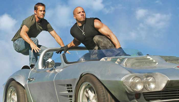 Screenshot from Fast & Furious 7 movie