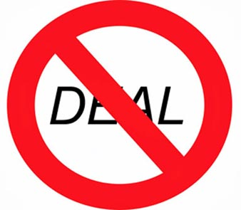 No deal sign