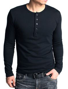 Full sleeve Henley shirt