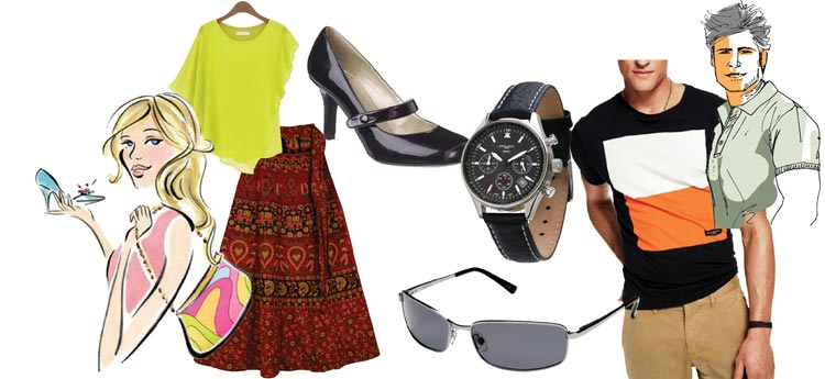 Clothing and accessories for a capsule wardrobe