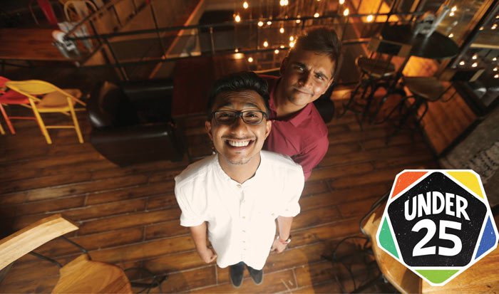 Anto Philip and Shreyans Jain, co-founders of Under25 Club