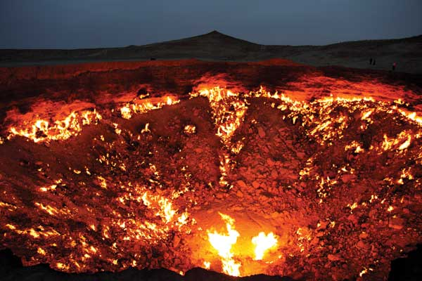Darvaza Crater in Turkmenistan