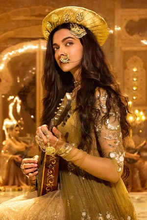 Deepika Padukone in the song Deewani Mastani from the movie Bajirao Mastani.
