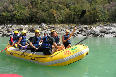 Whitewater rafting in Rishikesh