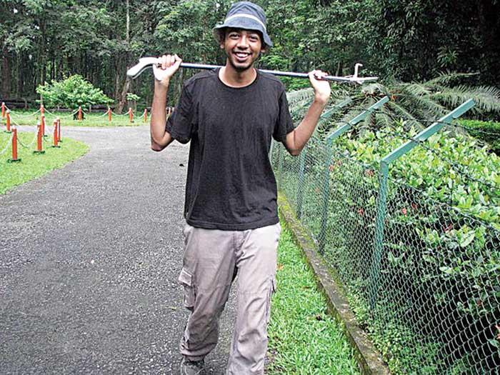 Herpetologist Chirag Roy