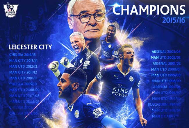 Leicester City premier league champions