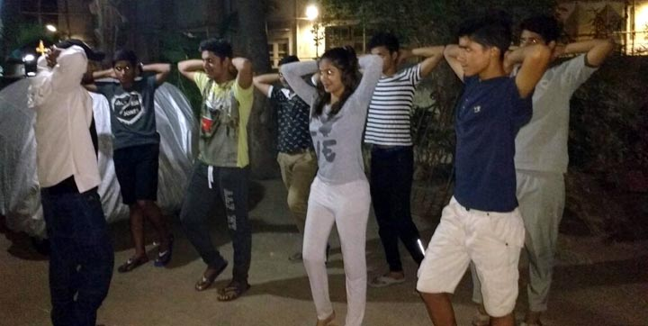 Teens working out with fitness trainer Prem Mehta