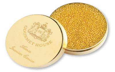 A tin of white caviar