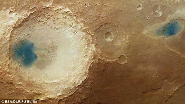 Arabia Terra region of Mars