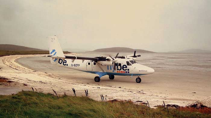 Barra Airport in Scotland