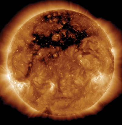 Sun with its coronal hole