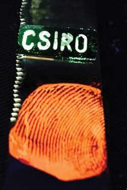 Glowing fingerprints