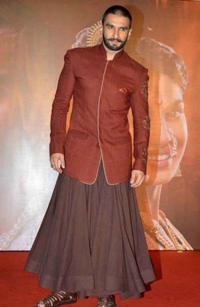 Ranveer Singh wearing a man skirt
