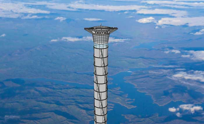 Space elevator tower
