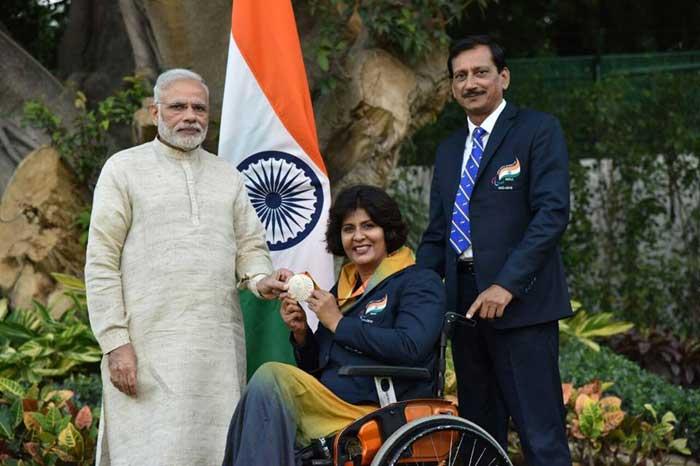 Deepa Malik meeting Prime Minister Narendra Modi