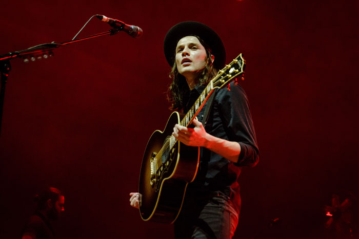 James Bay performing live