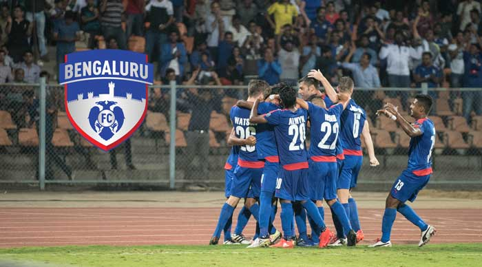 Bengaluru FC players celebrating a goal