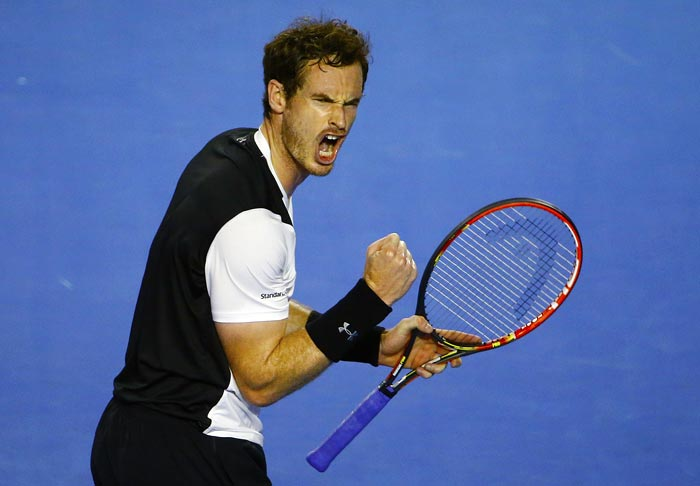 Andy Murray clenches fist in celebration