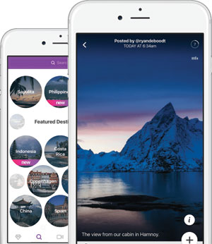 Facet travel inspiration app