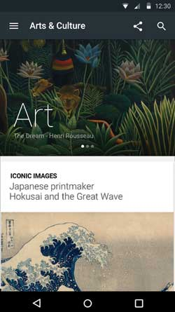 Google Arts & Culture app screenshot