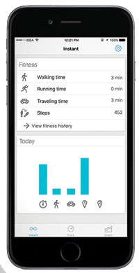 Instant activity tracker app screenshot