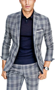 Man wearing plaid suit