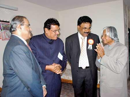 Albert D'Souza meeting late President APJ Abdul Kalam