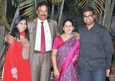 Albert D'Souza with his family