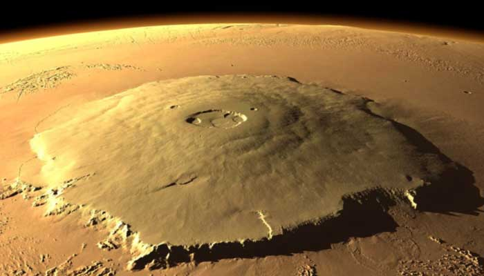 Olympus Mons volcano