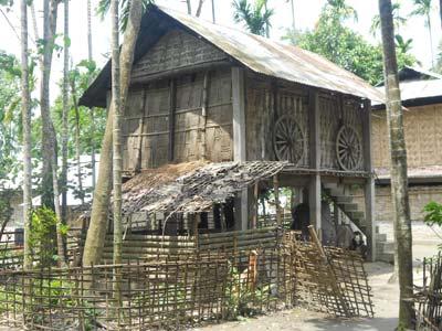 Traditional dwelling on Majuli Island