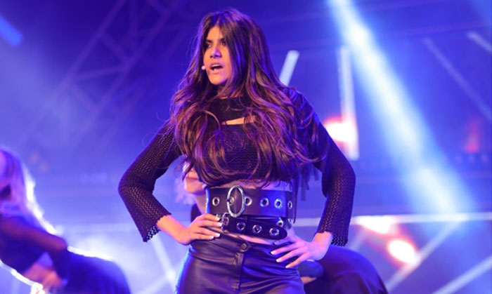 Ananya Birla performing on stage