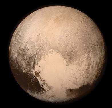 Sputnik Planum region on the surface of Pluto
