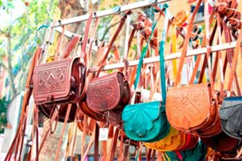 Colourful bags sold on the street