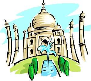 Illustration of Taj Mahal