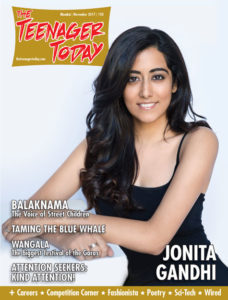 Jonita Gandhi on the cover of the October 2017 issue of The Teenager Today