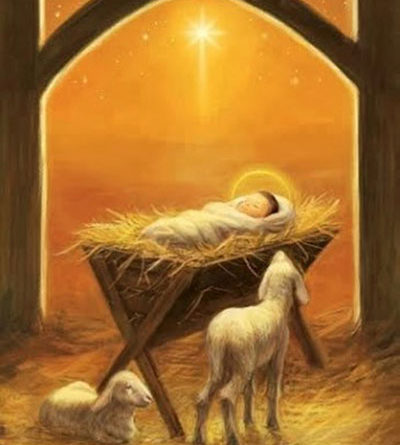 Baby Jesus lying in the manger