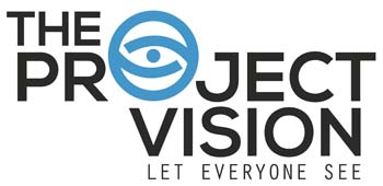 Logo of The Project Vision with tagline Let Everyone See