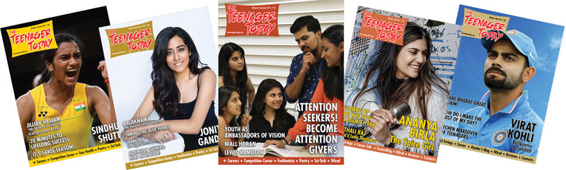 Covers of The Teenager Today magazine
