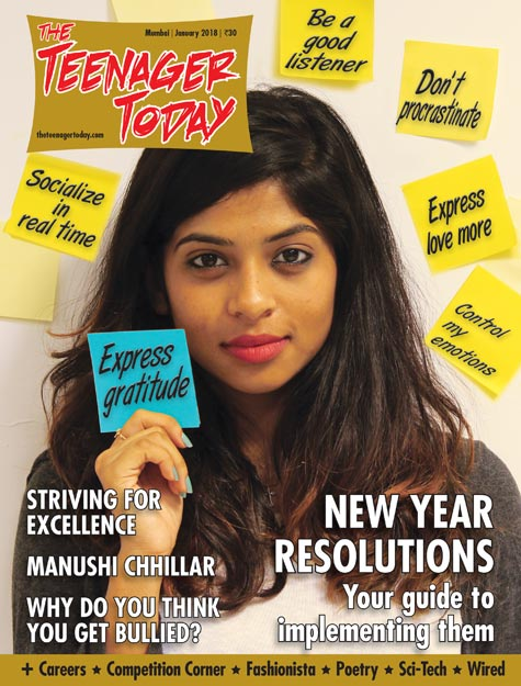 Cover of the January 2018 issue of The Teenager Today