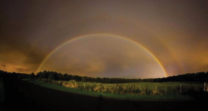 Moonbow over North Yorkshire