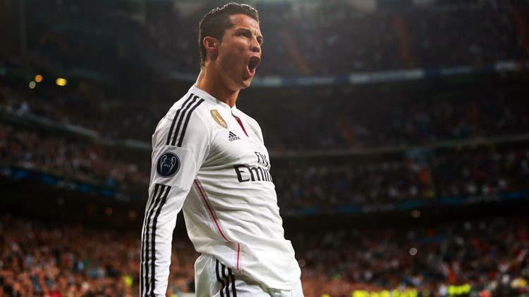 Cristiano Ronaldo celebrating a goal