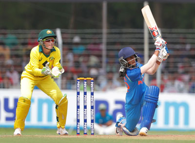 Jemimah Rodrigues batting vs Australia