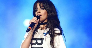Camila Cabello singing on stage