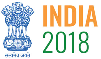 Indian emblem alongside the words India 2018