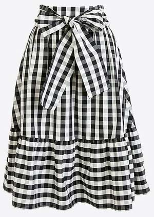 Black and white gingham skirt